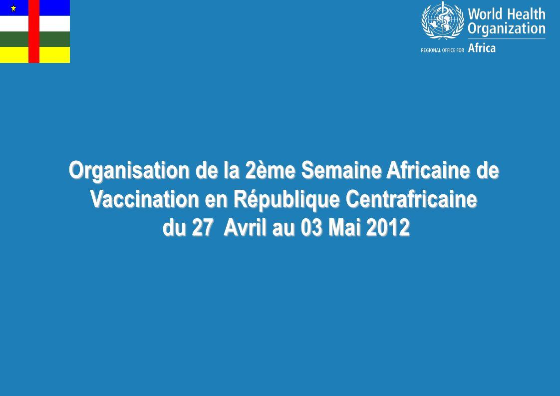 Organisation de la 2ème Semaine Africaine de