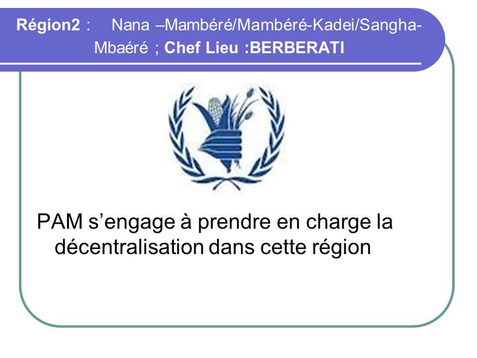 PAM s'engage à prendre en charge la décentralisation dans cette région