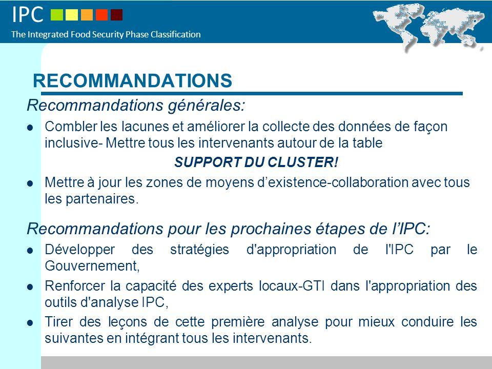 RECOMMANDATIONS Recommandations générales: