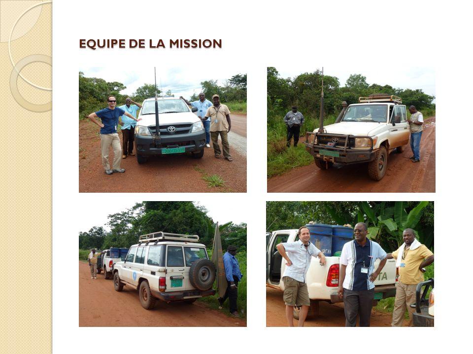 EQUIPE DE LA MISSION