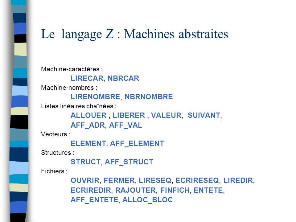 Le langage Z : Machines abstraites