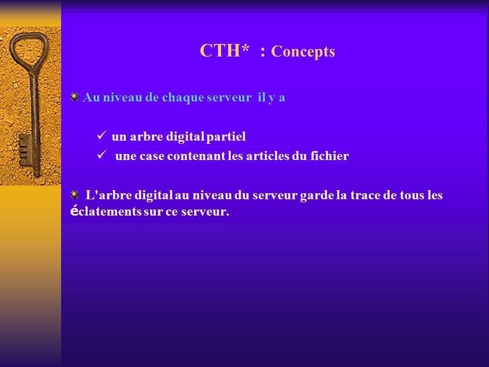 CTH* : Concepts Au niveau de chaque serveur il y a