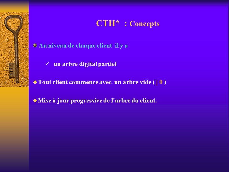 CTH* : Concepts Au niveau de chaque client il y a