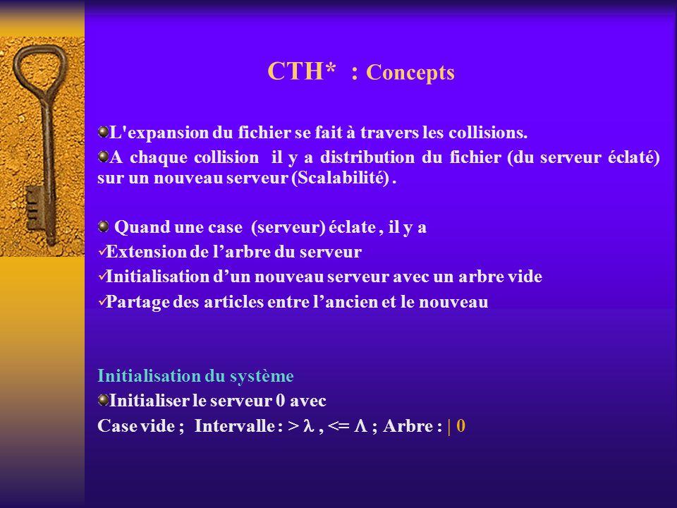CTH* : Concepts L expansion du fichier se fait à travers les collisions.