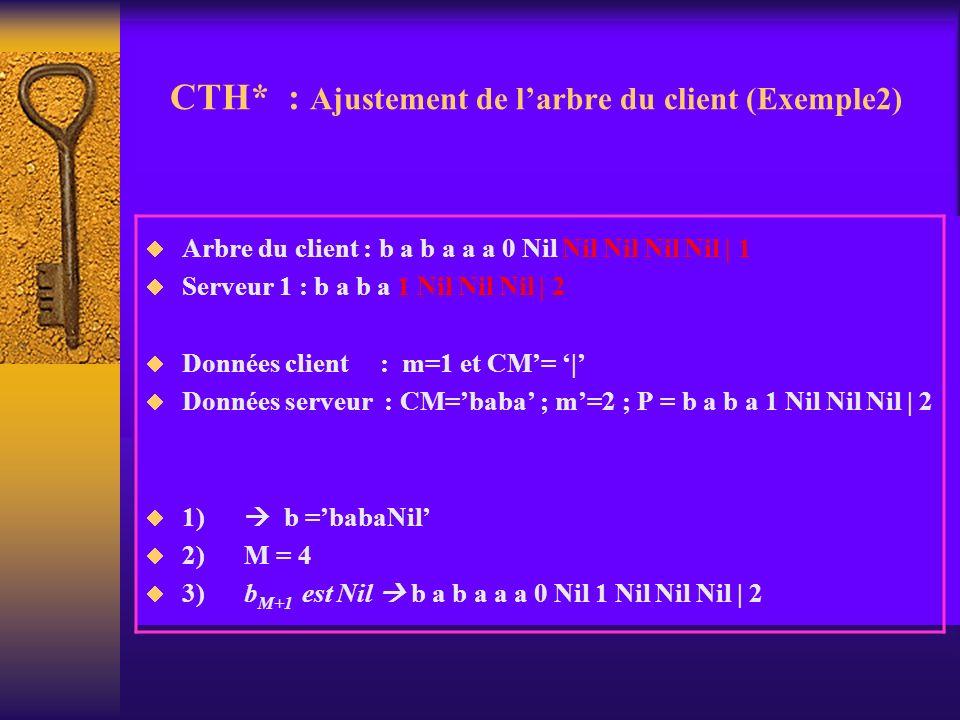 CTH* : Ajustement de l'arbre du client (Exemple2)