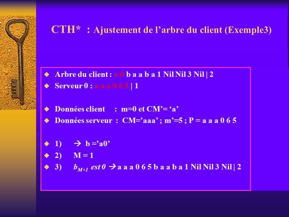 CTH* : Ajustement de l'arbre du client (Exemple3)