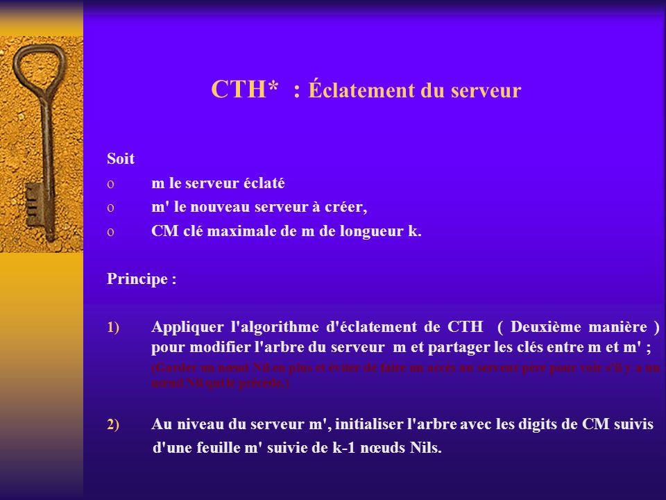 CTH* : Éclatement du serveur