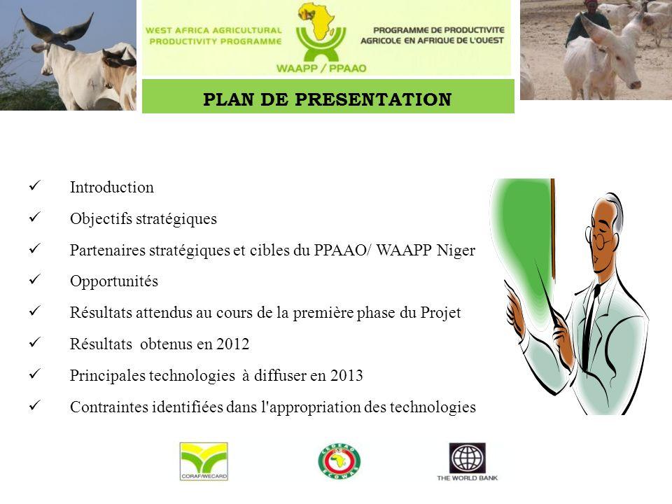 PLAN DE PRESENTATION Introduction Objectifs stratégiques