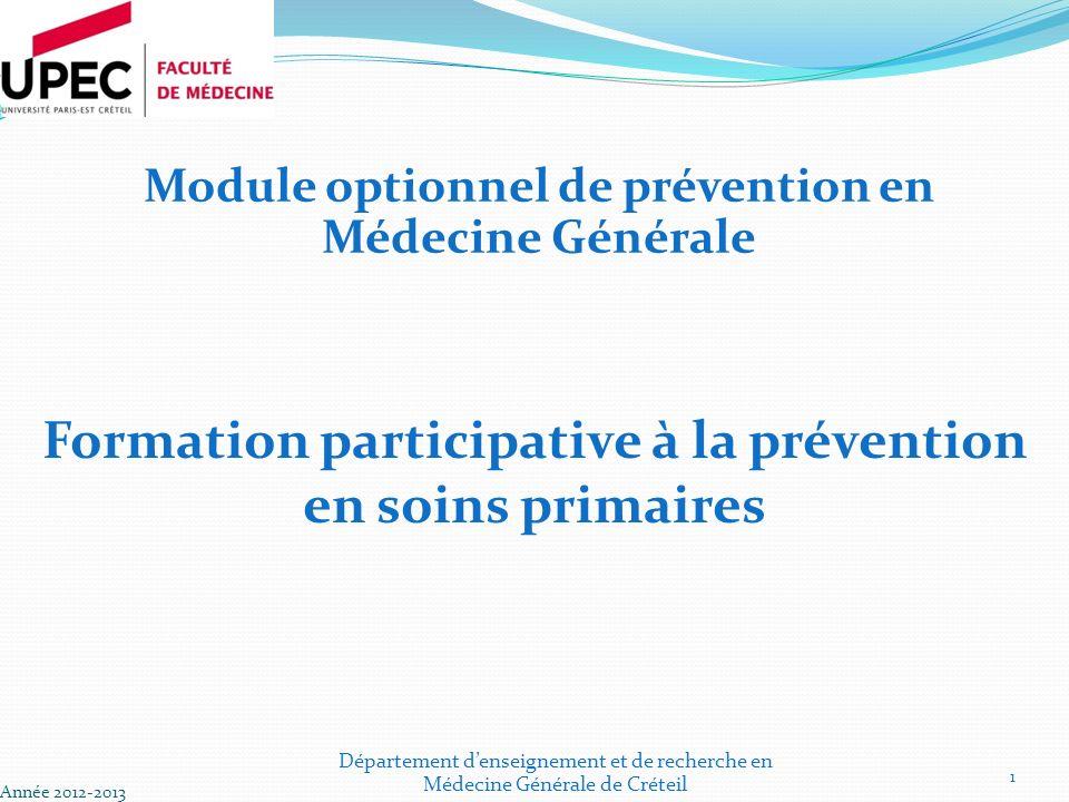 Formation participative à la prévention en soins primaires