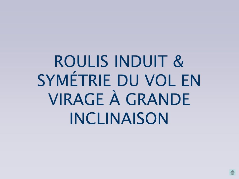 SYMÉTRIE DU VOL EN VIRAGE À GRANDE INCLINAISON
