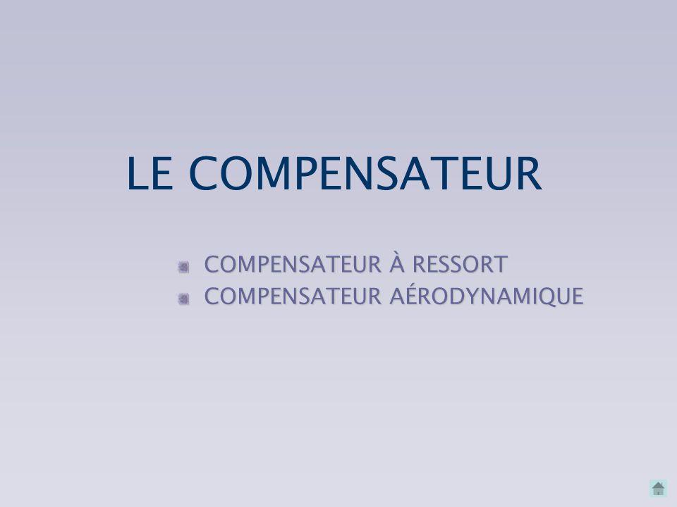 LE COMPENSATEUR COMPENSATEUR À RESSORT COMPENSATEUR AÉRODYNAMIQUE
