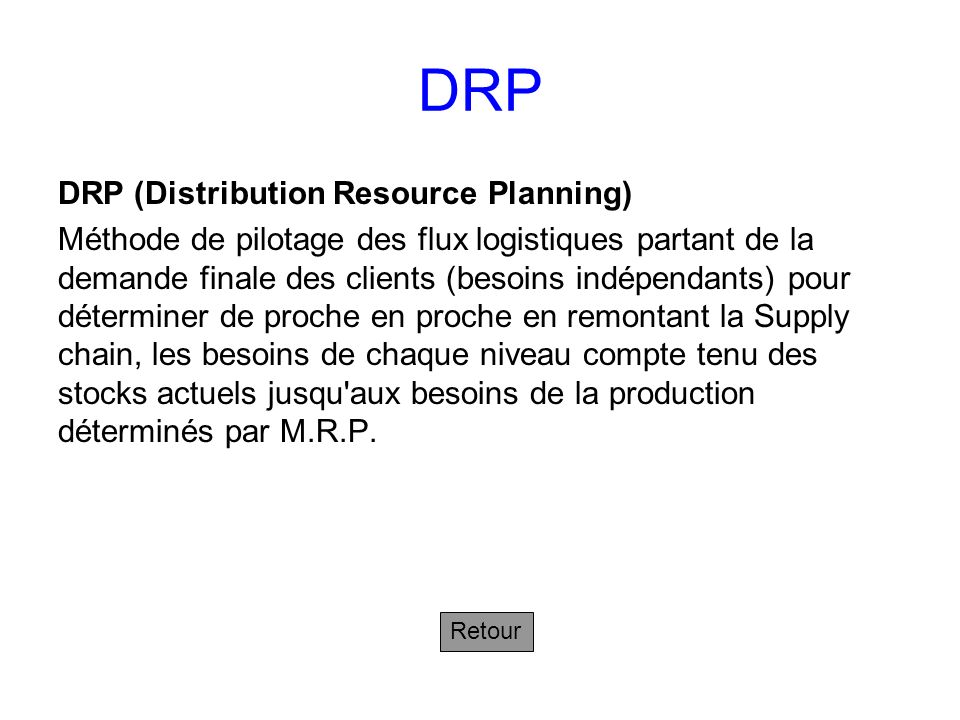 DRP DRP (Distribution Resource Planning)