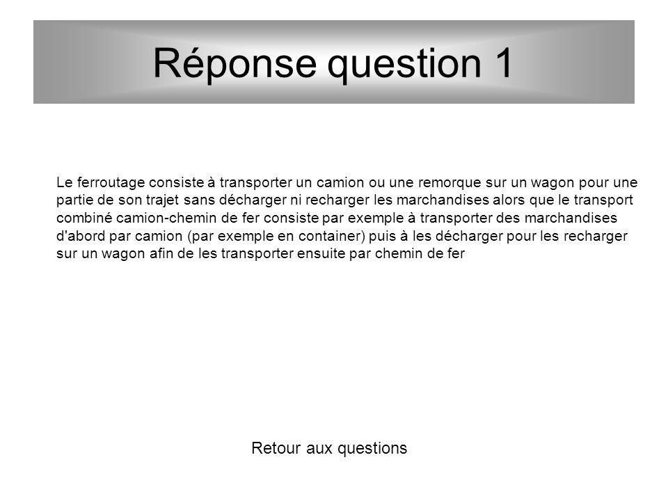 Réponse question 1 Retour aux questions