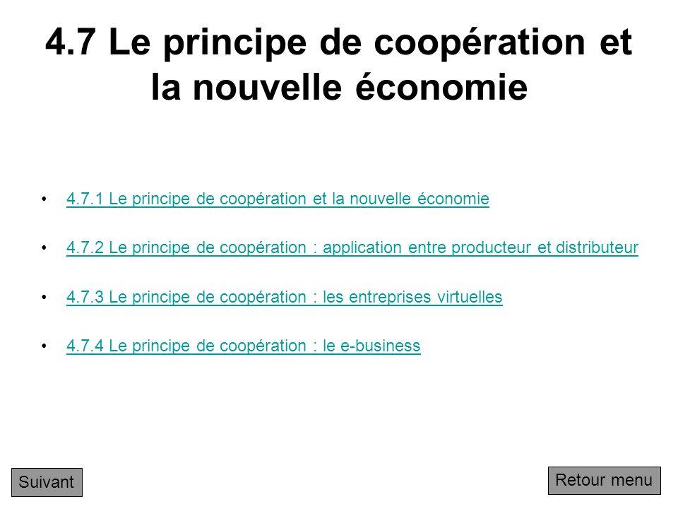 4.7 Le principe de coopération et la nouvelle économie