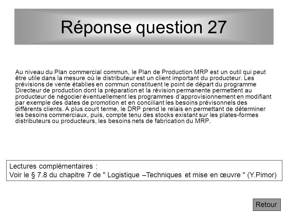 Réponse question 27 Lectures complémentaires :