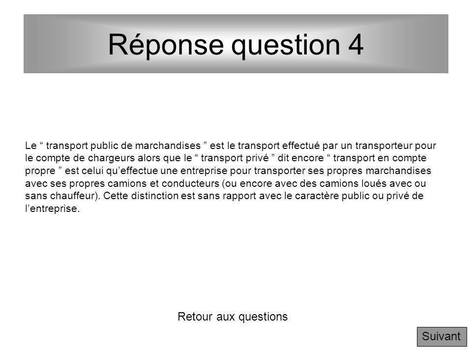 Réponse question 4 Retour aux questions Suivant