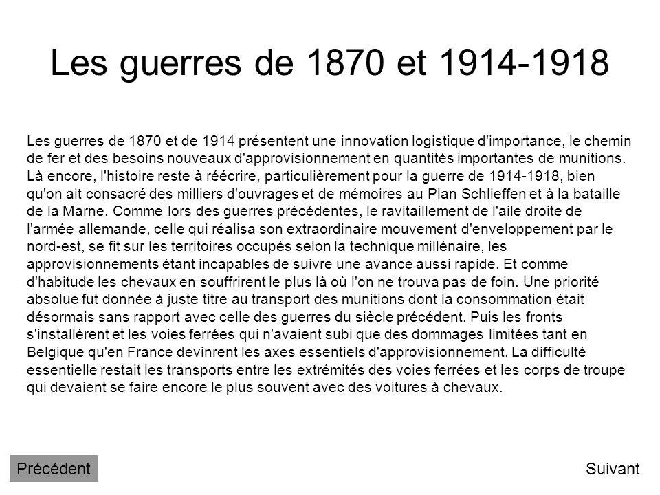 Les guerres de 1870 et 1914-1918 Précédent Suivant
