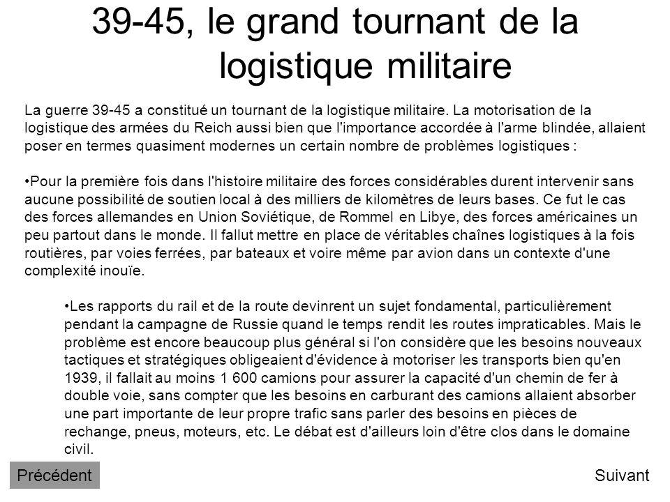 39-45, le grand tournant de la logistique militaire