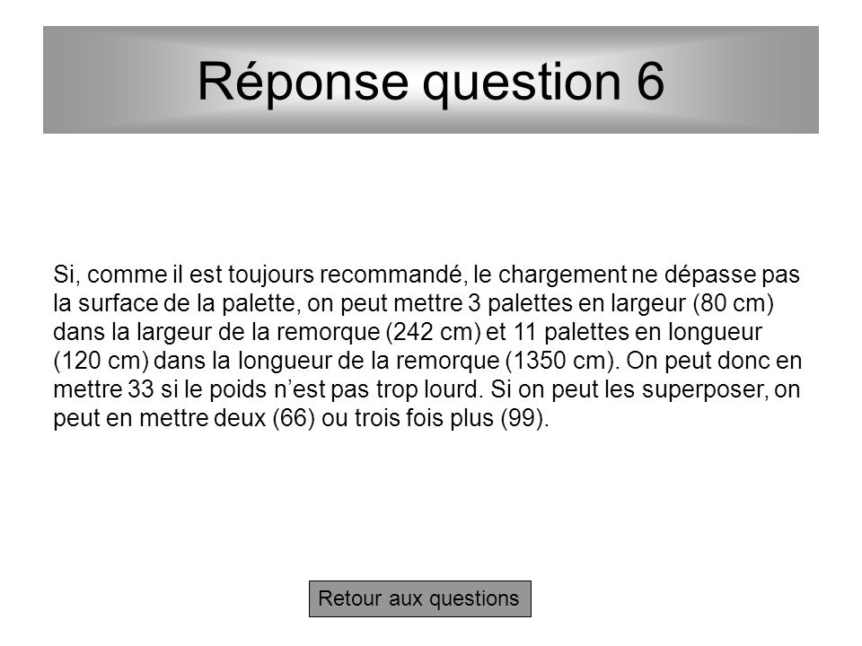 Réponse question 6