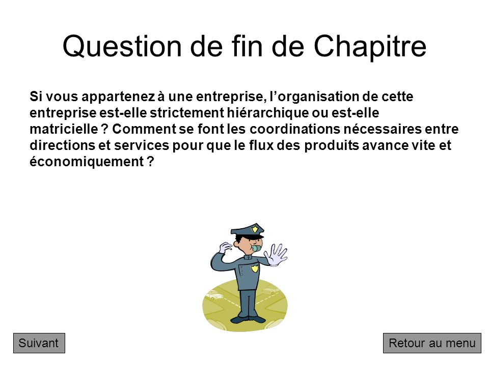 Question de fin de Chapitre