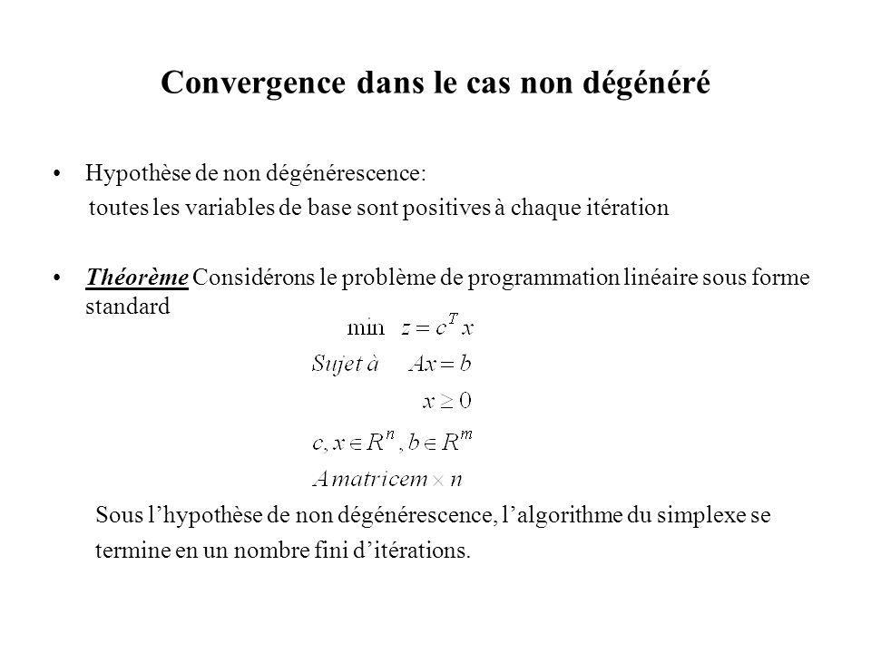 Convergence dans le cas non dégénéré
