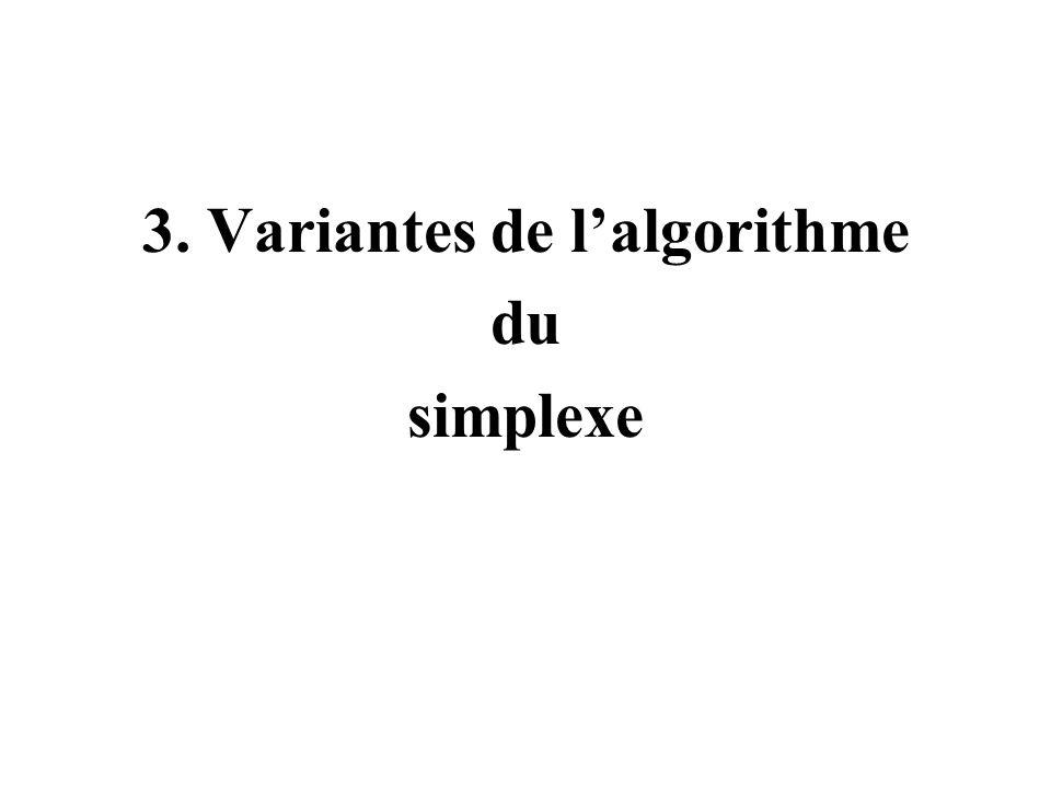 3. Variantes de l'algorithme