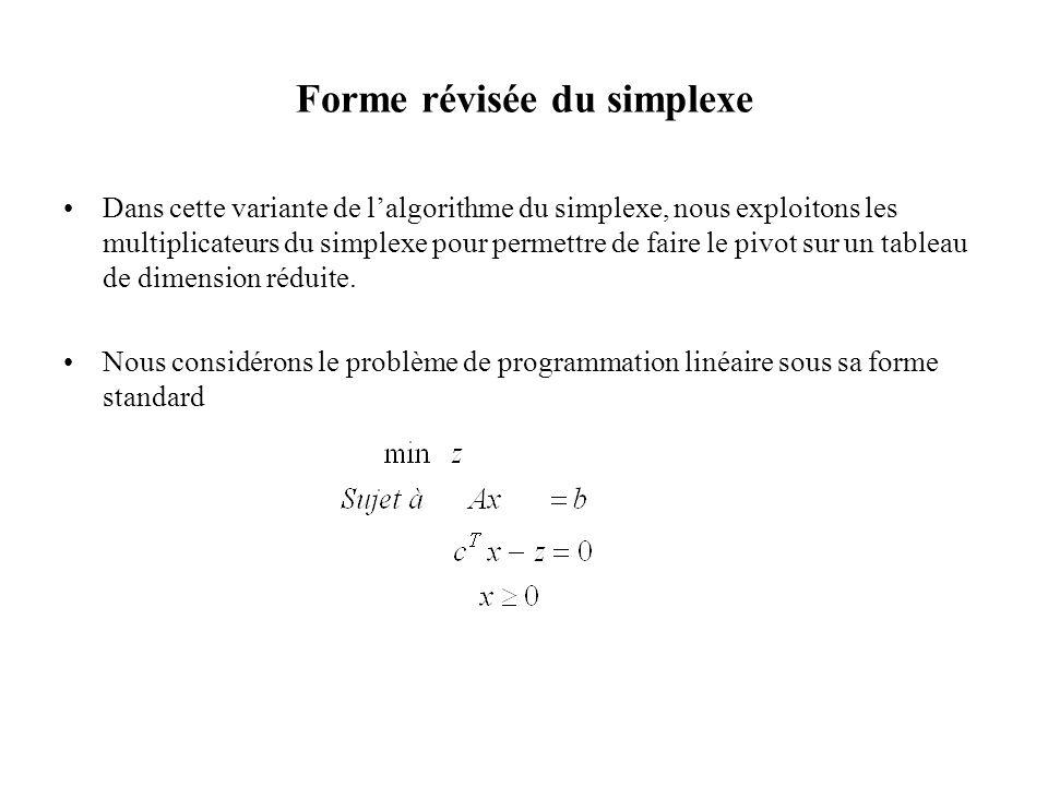 Forme révisée du simplexe