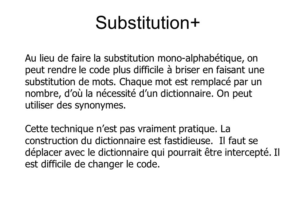 Substitution+