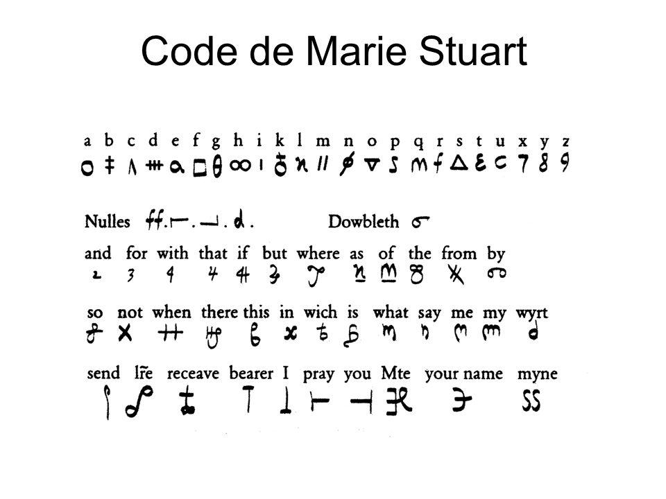 Code de Marie Stuart