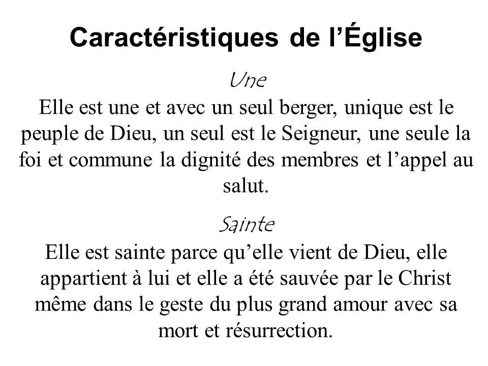 Caractéristiques de l'Église
