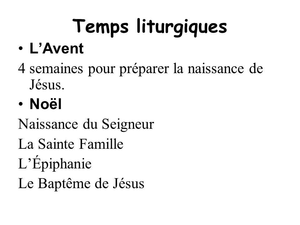 Temps liturgiques L'Avent