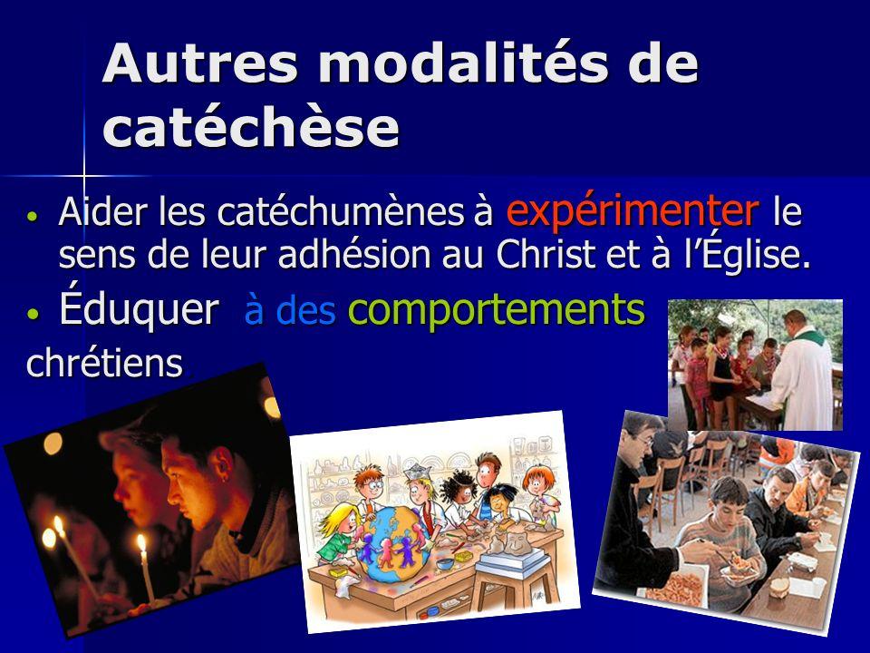 Autres modalités de catéchèse