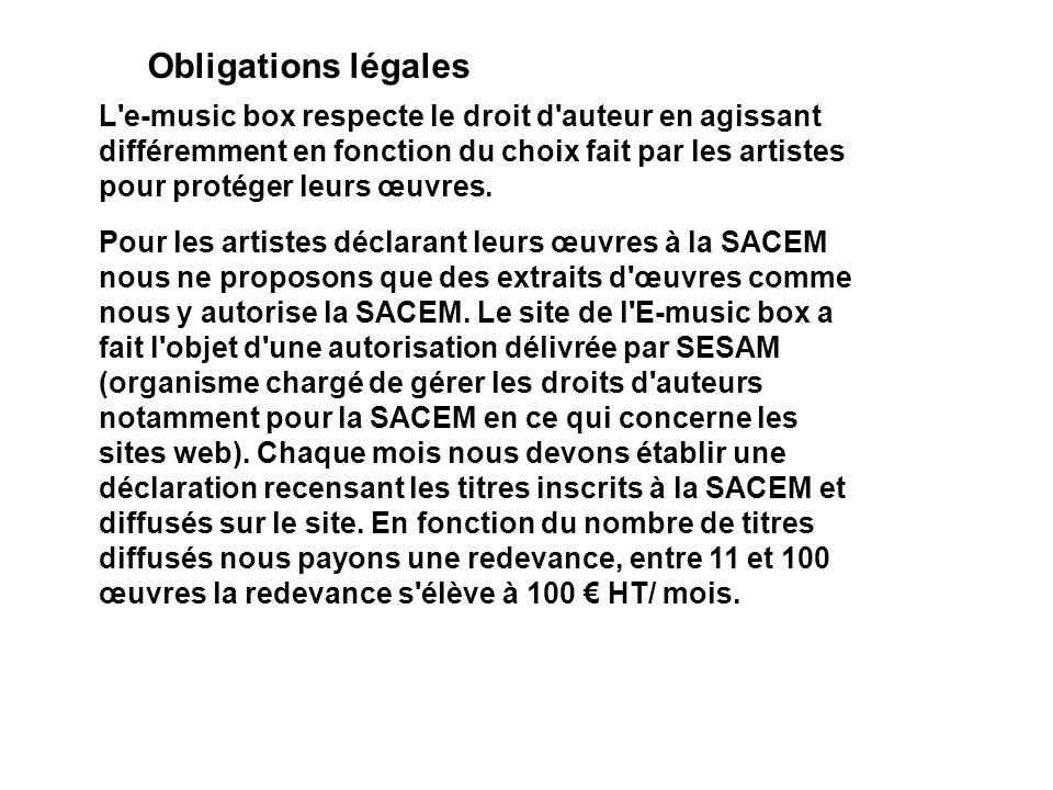 Obligations légales