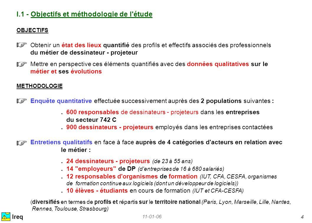 I.1 - Objectifs et méthodologie de l étude
