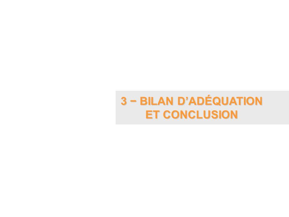 3 − BILAN D'ADÉQUATION ET CONCLUSION