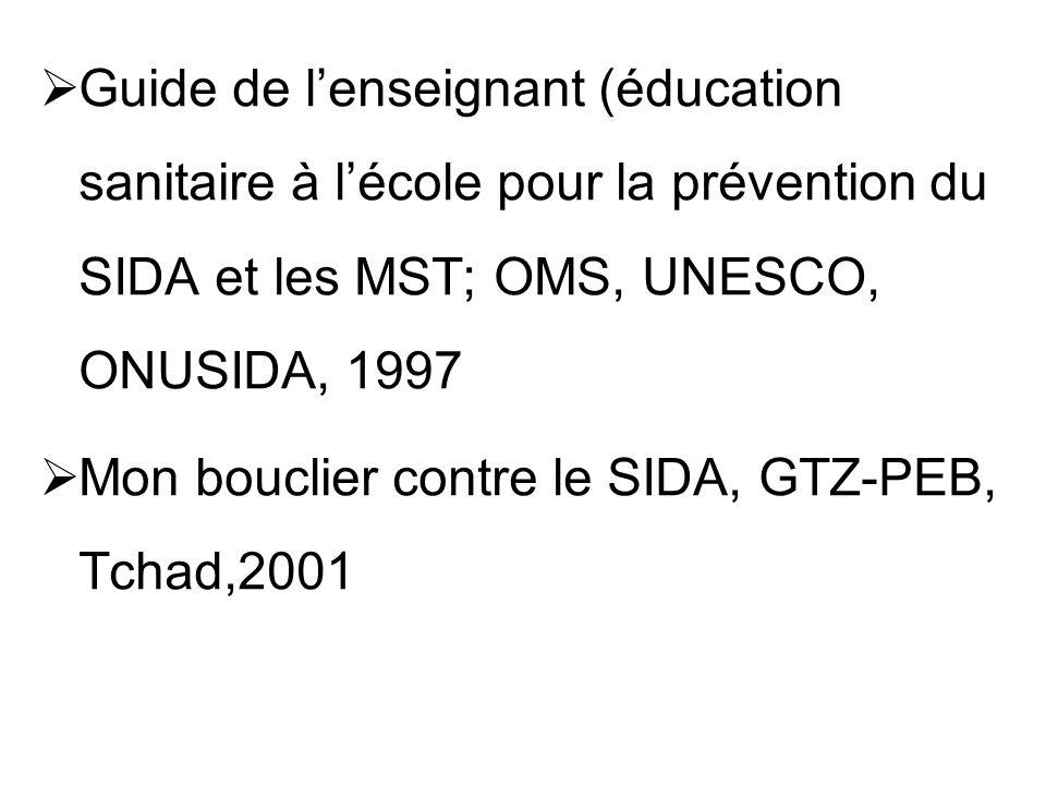 Guide de l'enseignant (éducation sanitaire à l'école pour la prévention du SIDA et les MST; OMS, UNESCO, ONUSIDA, 1997