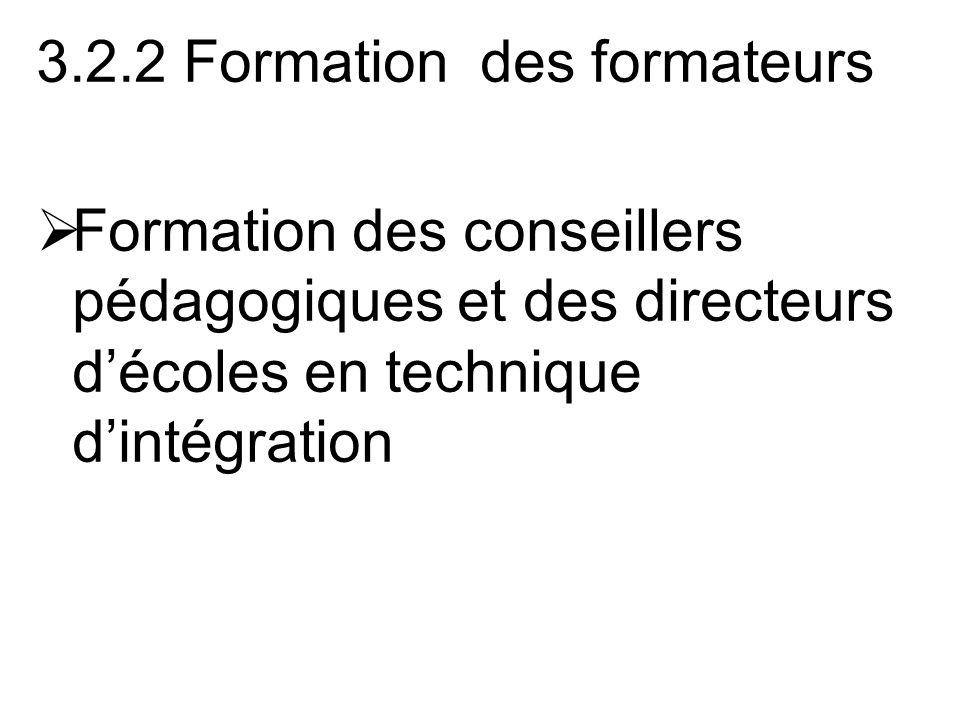 3.2.2 Formation des formateurs