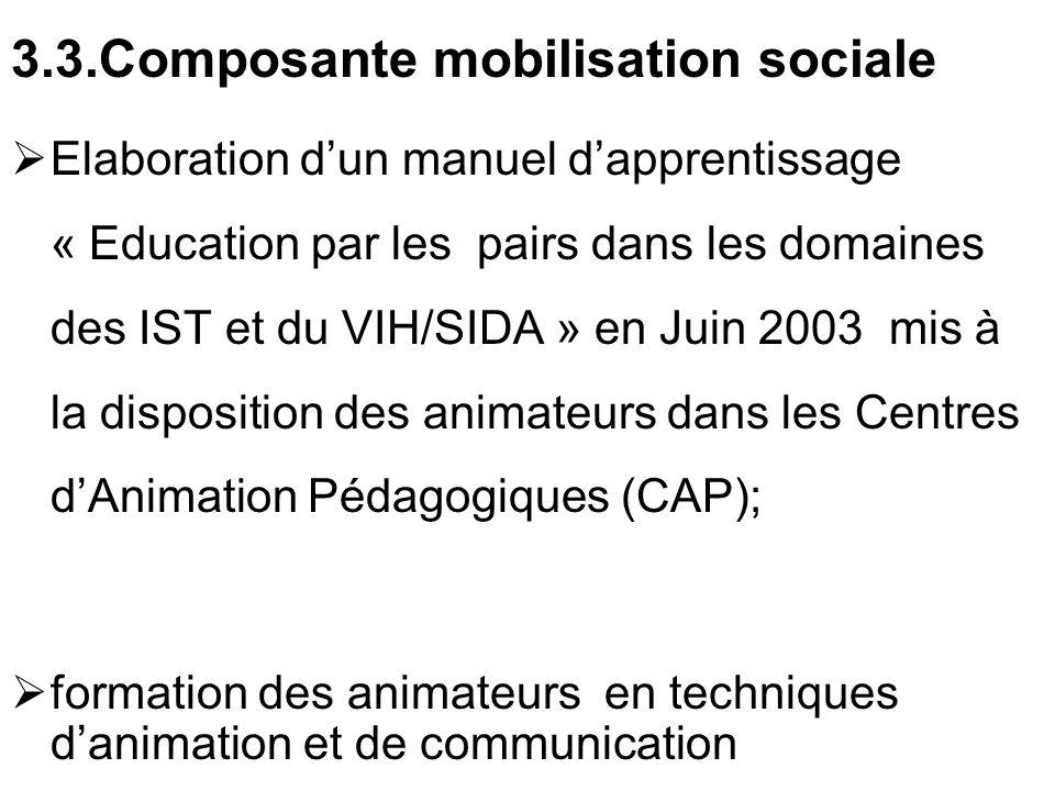 3.3.Composante mobilisation sociale