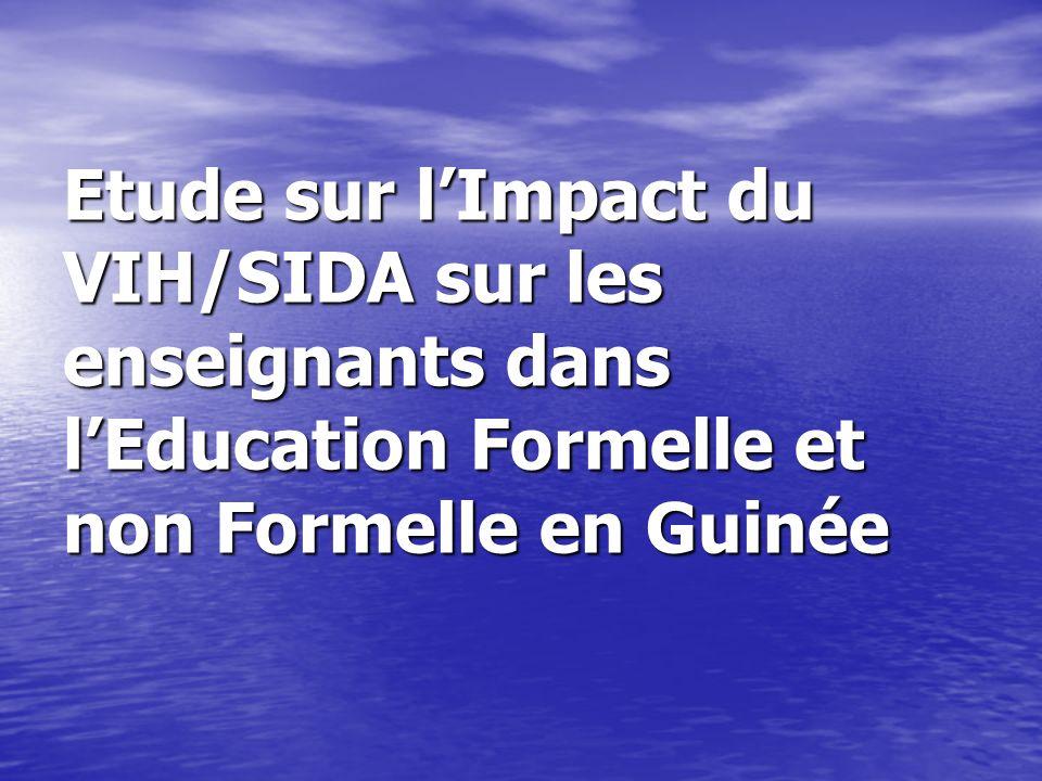 Etude sur l'Impact du VIH/SIDA sur les enseignants dans l'Education Formelle et non Formelle en Guinée