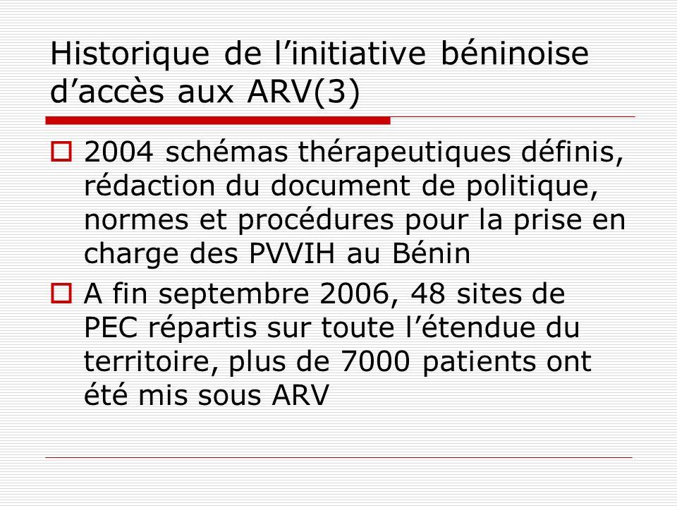 Historique de l'initiative béninoise d'accès aux ARV(3)