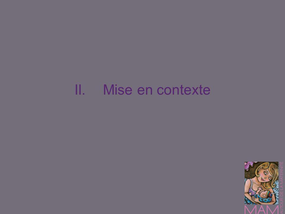 II. Mise en contexte