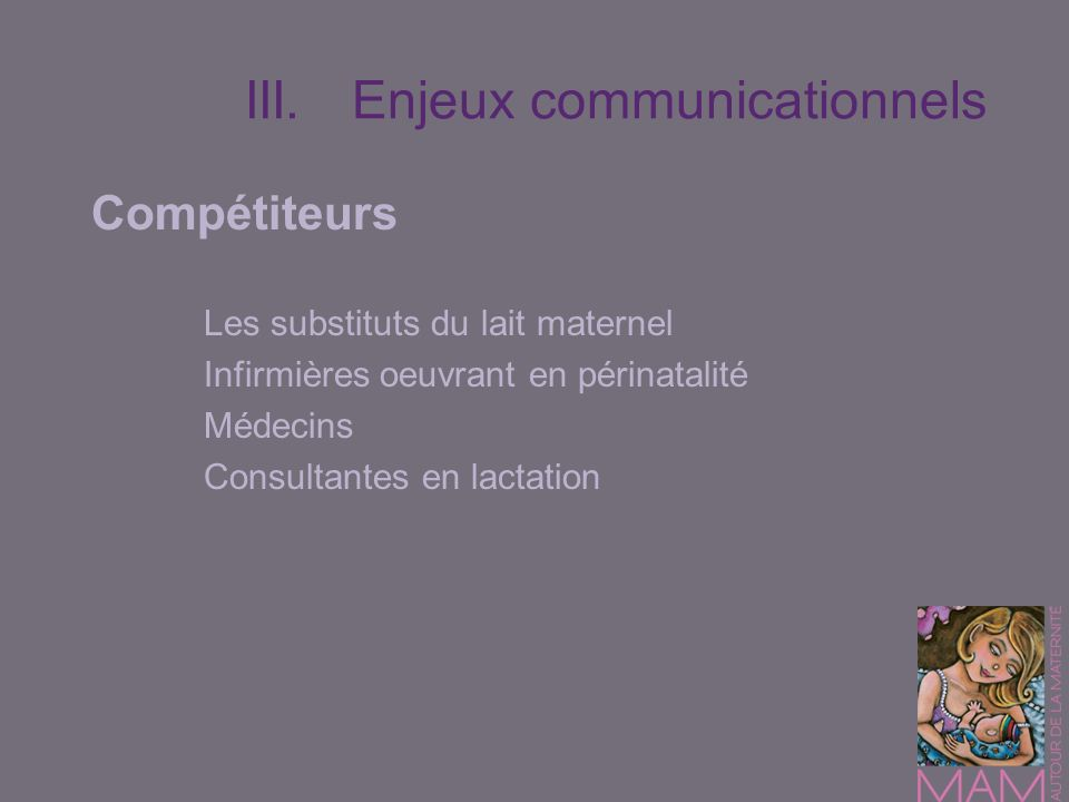 III. Enjeux communicationnels