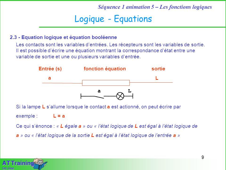 Logique - Equations 2.3 - Equation logique et équation booléenne