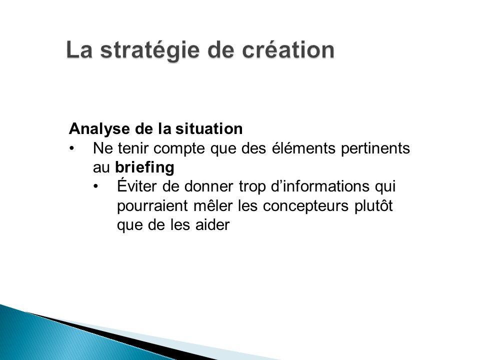 La stratégie de création
