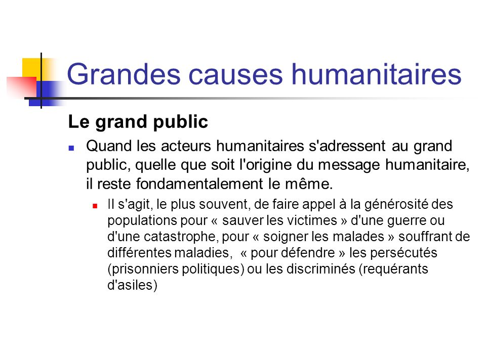 Grandes causes humanitaires