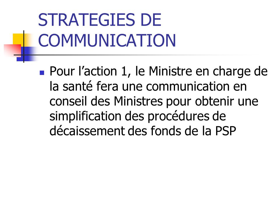 STRATEGIES DE COMMUNICATION