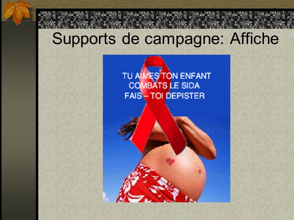 Supports de campagne: Affiche