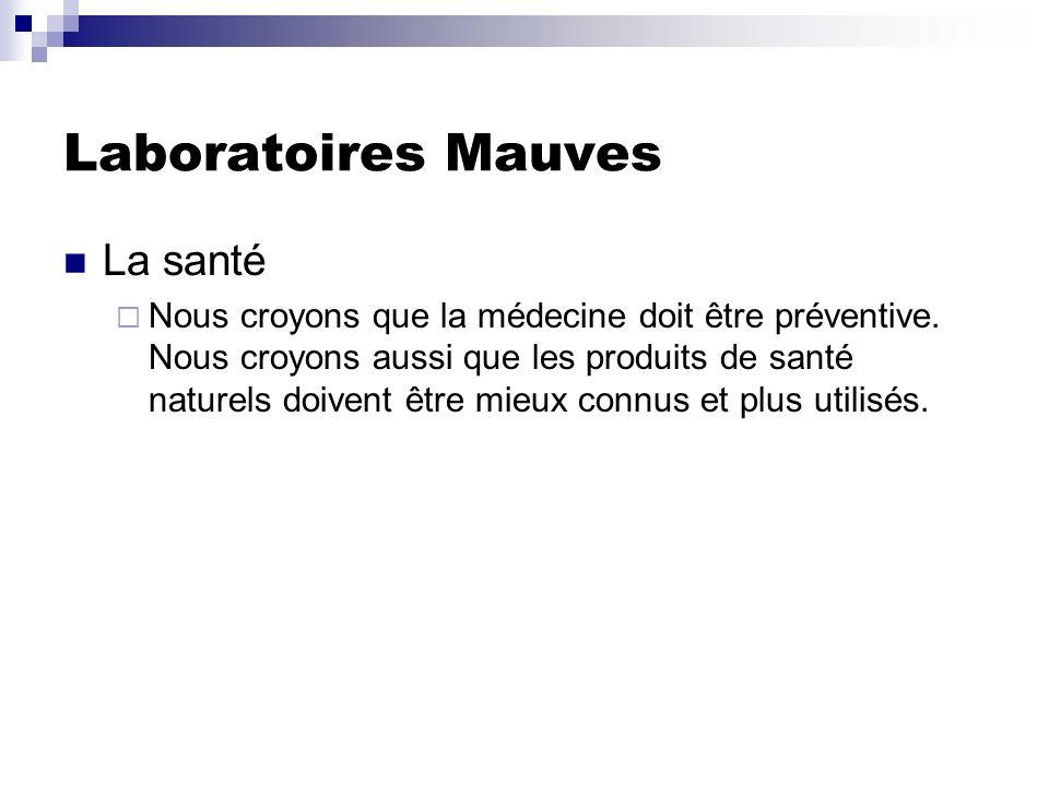 Laboratoires Mauves La santé