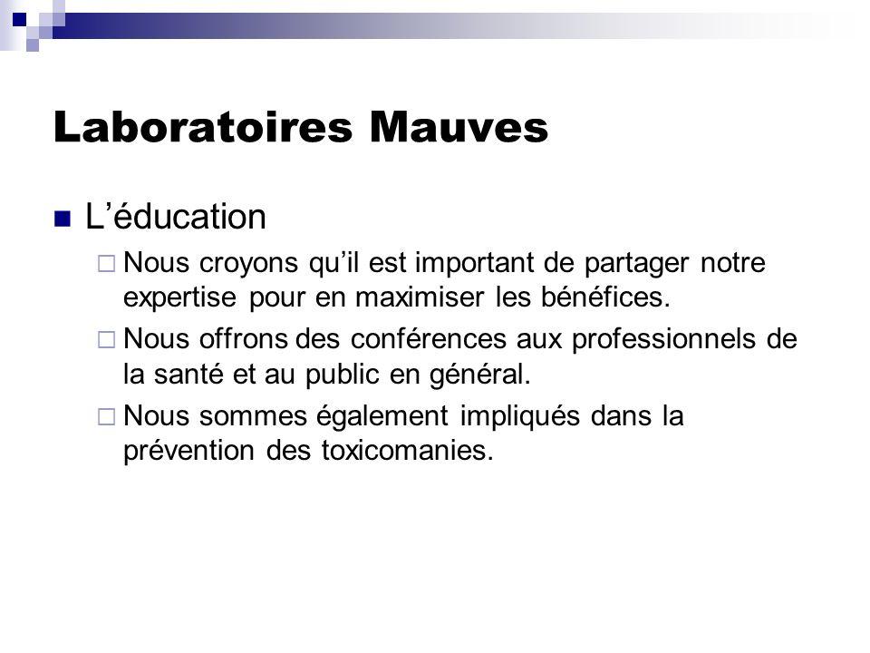 Laboratoires Mauves L'éducation