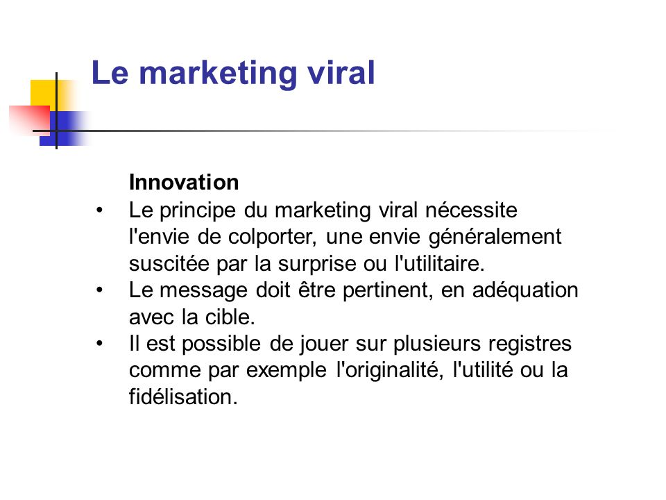 Le marketing viral Innovation